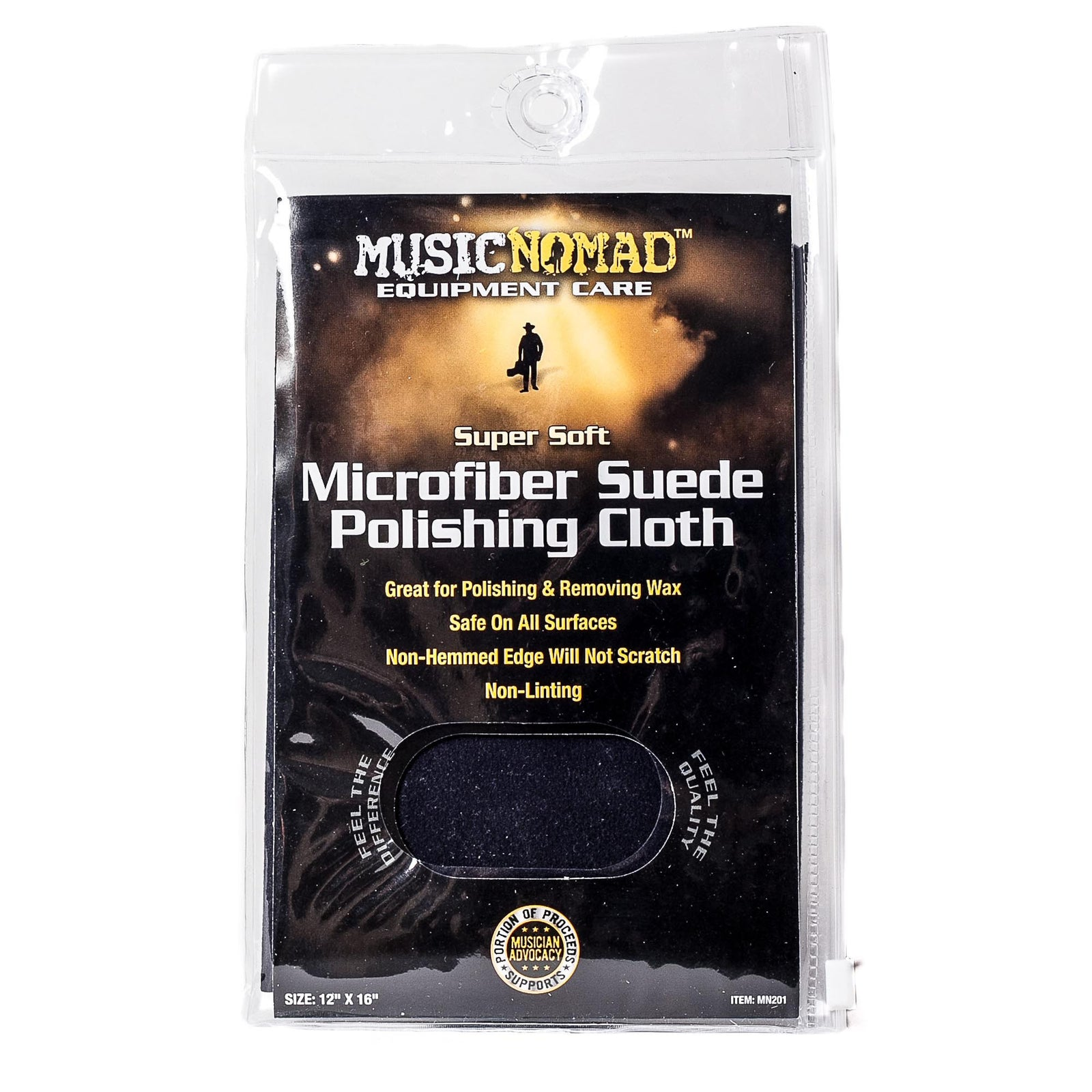 Music Nomad Microfiber Suede Polishing Cloth