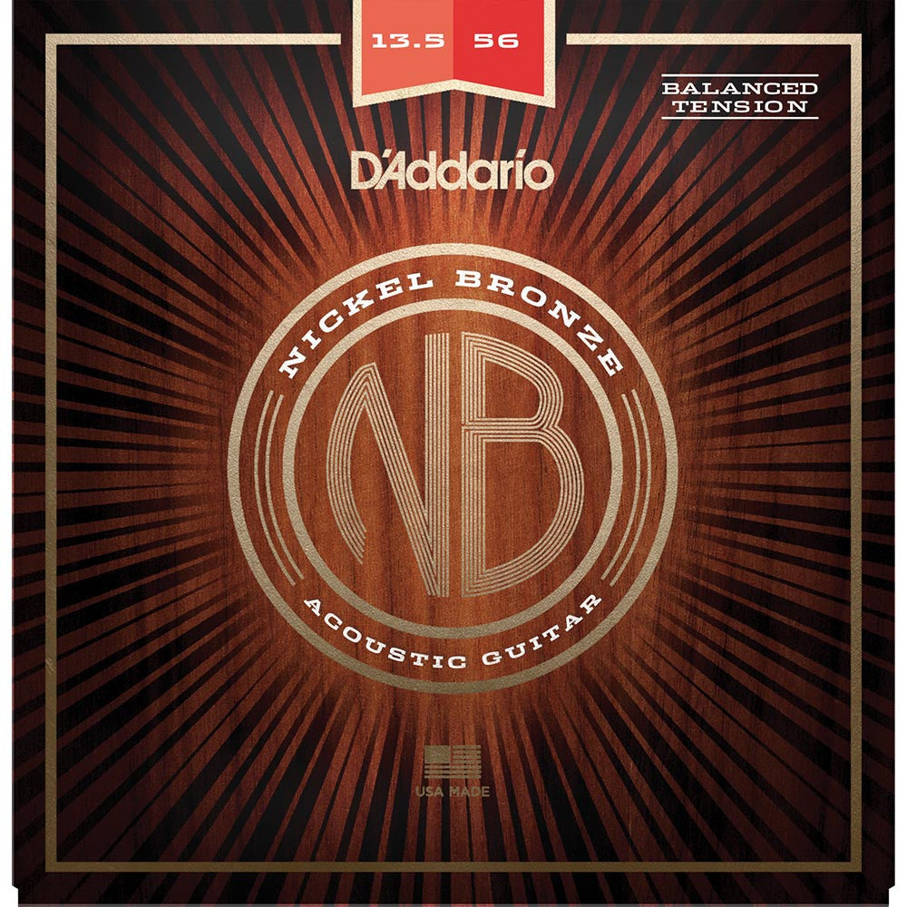 Daddario 13.5-56 Nickel Bronze Acoustic Set - Balanced Tension Medium - Image: 1