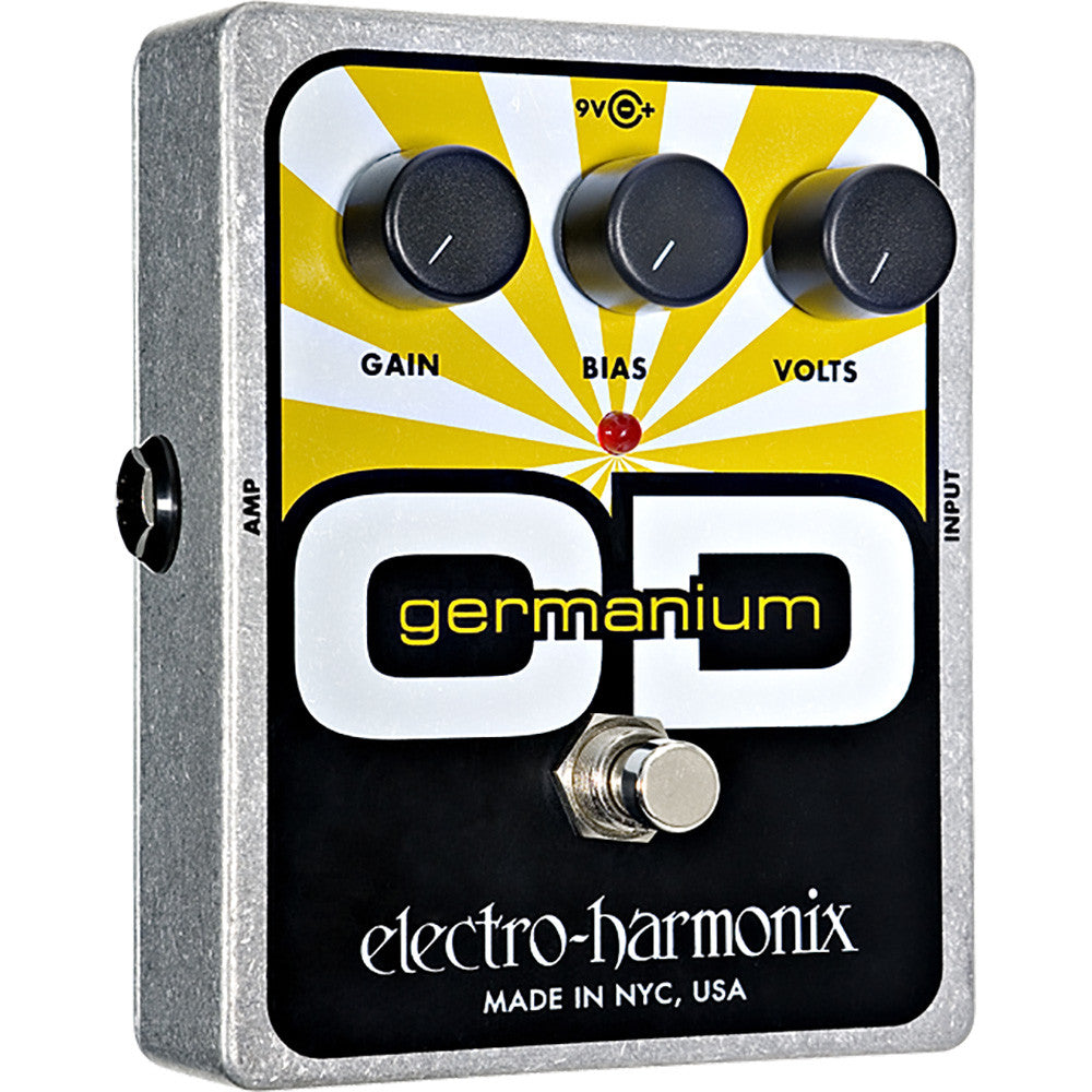 Electro Harmonix OD Germanium Overdrive-Battery Included, 9.6DC-200 PSU Optional