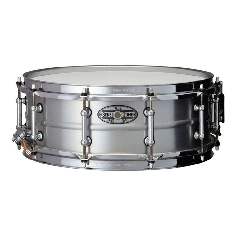 "Pearl 5X14"" Sensitone Snare, Beaded Seamless Aluminum, Clear Lacquer"