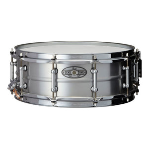 "Pearl 5x14"" Sensitone Snare - Beaded Seamless Aluminum - Clear Lacquer"