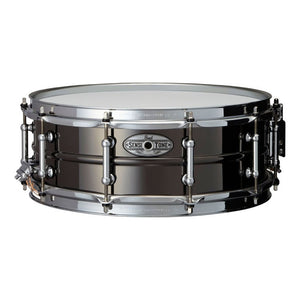"Pearl 6.5x14"" Sensitone Snare - Beaded Brass - Black Nickel Plated"