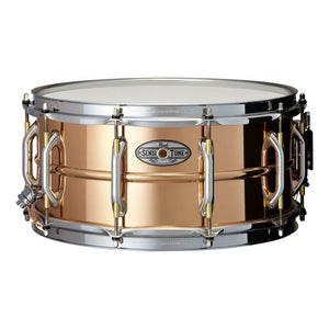"Pearl 6.5x14"" Sensitone Snare - Premium Beaded Phosphor Bronze"