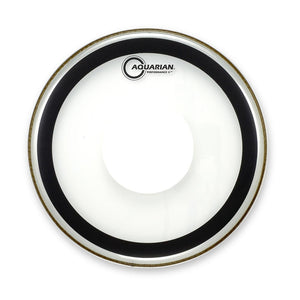 "Aquarian 16"" Performance 2 Clear W Power Dot"