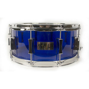 "Pork Pie 6.5x14"" Pig Lite Acrylic Snare - Dark Blue"