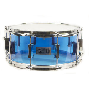 "Pork Pie 6.5x14"" Pig Lite Acrylic Snare - Soft Blue - Chrome Hardware"