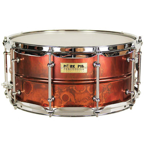 "Pork Pie 6.5x14"" Pork Rub Brass Snare"
