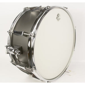 "Pork Pie 6x14"" Little Squealer Steel Shell 8-Lug Snare - Black Wrinkle"