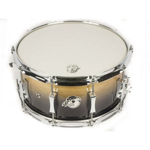 "Pork Pie 6.5x14"" Oak Brass Shell Snare - Candy Black Fade"