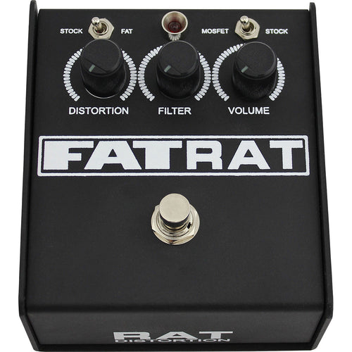 Proco Fat Rat Distortion Pedal W/ Vintage And Mosfet Clipping Circuits