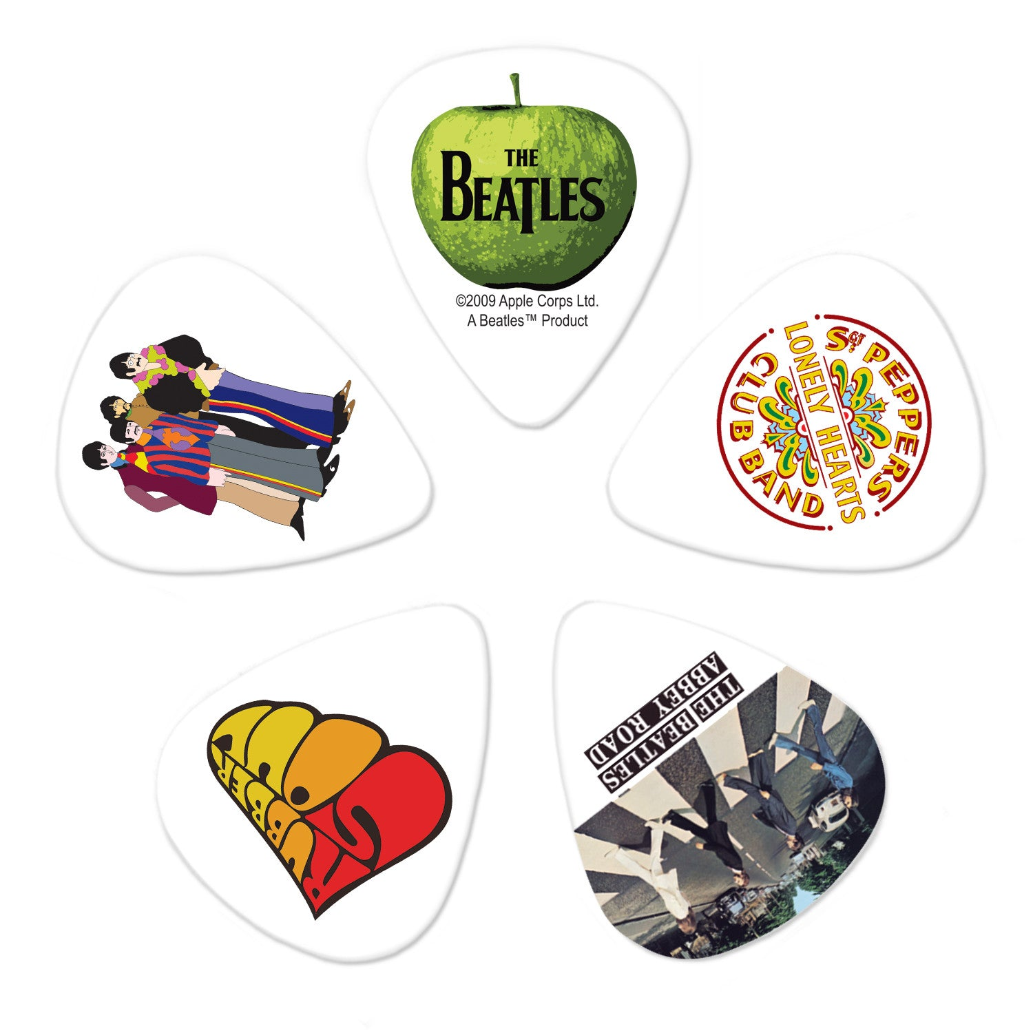 Planet Waves Beatles Guitar Picks - Albums - 10 Pack Medium
