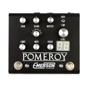Emerson Custom Pomeroy Boost & Overdrive Pedal - Black