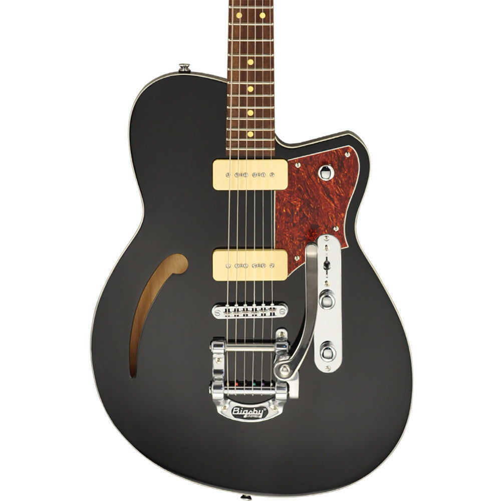 Reverend Club King 290 Electric Guitar, Midnight Black