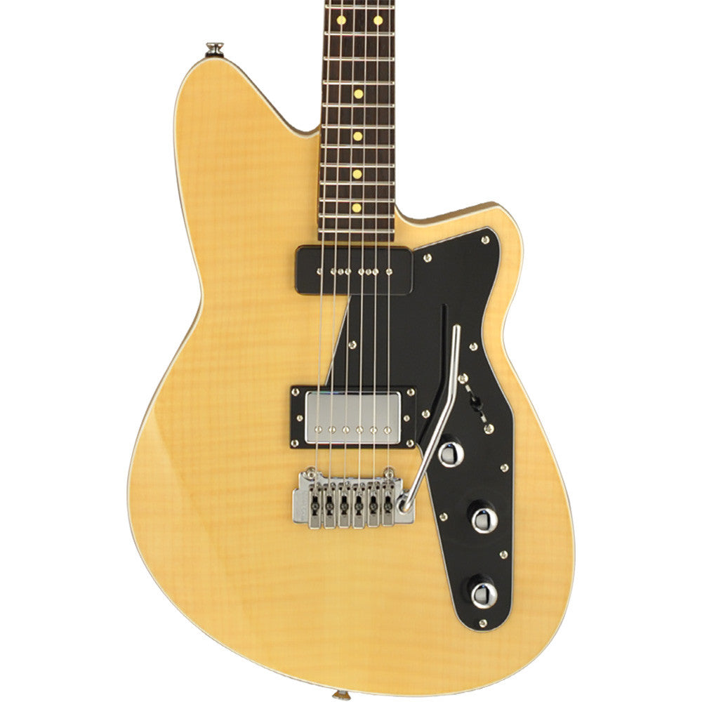 Reverend Double Agent Electric Guitar With Wilkinson Tremolo - Vintage Clear Flame Maple