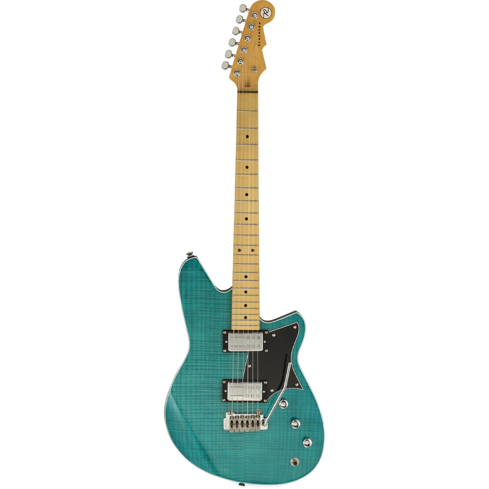 Reverend Kingbolt RA Flamed Maple With Wilkinson Tremolo - Gloss Turquoise