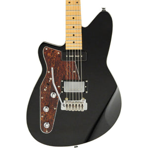 Reverend Lefty Double Agent Electric Guitar With Wilkinson Tremolo - Midnight Black
