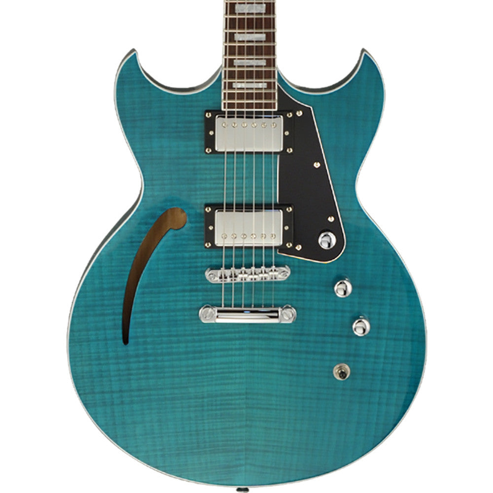 Reverend Manta Ray HB Electric Guitar - Turquoise Flame Maple