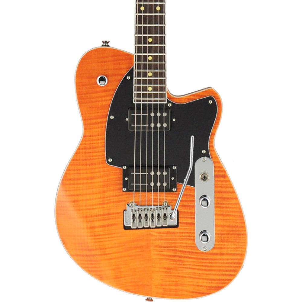 Reverend Reeves Gabrels Signature - Satin Orange Flame Map