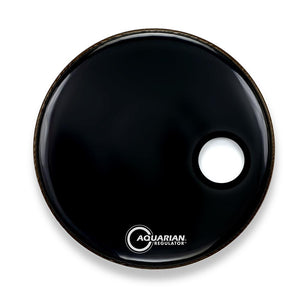 "Aquarian 20"" Regulator Front Bass Drum Head - Black"