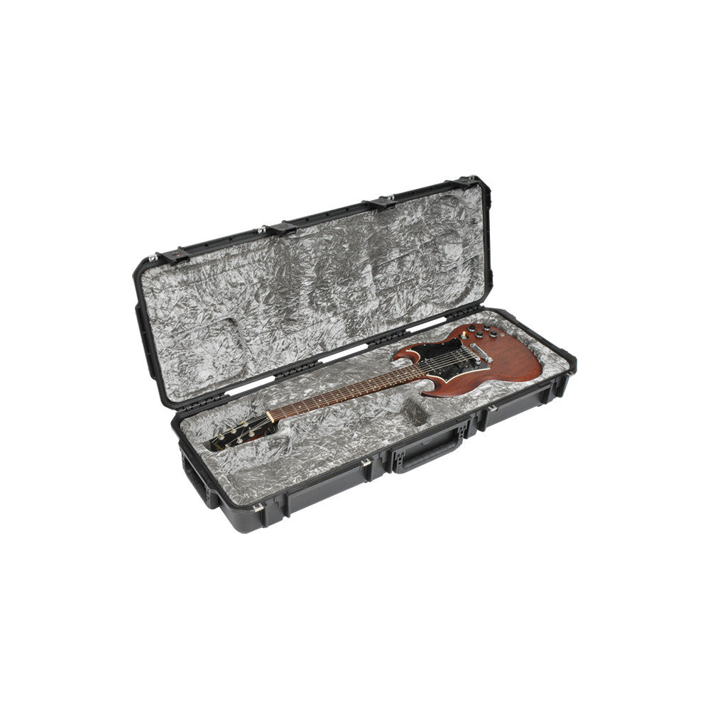 SKB Iseries Flight Case for Gibson® SG® Guitars - TSA Latches With Wheels