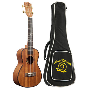 Amati's Snail Ukulele - Decorated Mahogany Concert With Bag