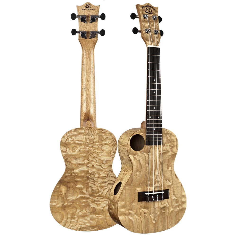 Amati's Snail Ukulele - Quilted Ash Concert With Bag - Image: 1