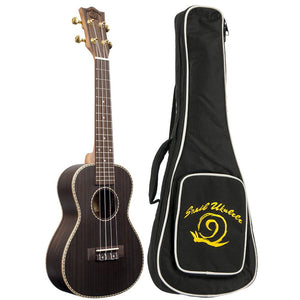 Amati's Snail Ukulele - Rosewood Concert With Bag