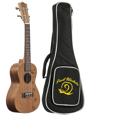 Amati's Snail Ukulele - Spalted Maple With Bag
