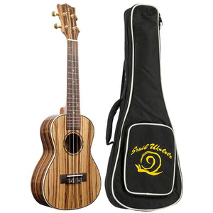 Amati's Snail Ukulele - Zebrawood With Bag