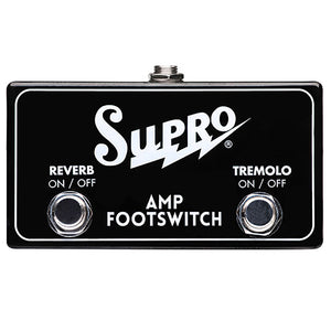 Supro Reverb Tremolo 2 Button Footswitch