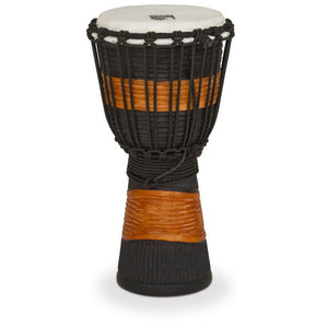 Toca Street Djembe Brown/Black Carved - Small
