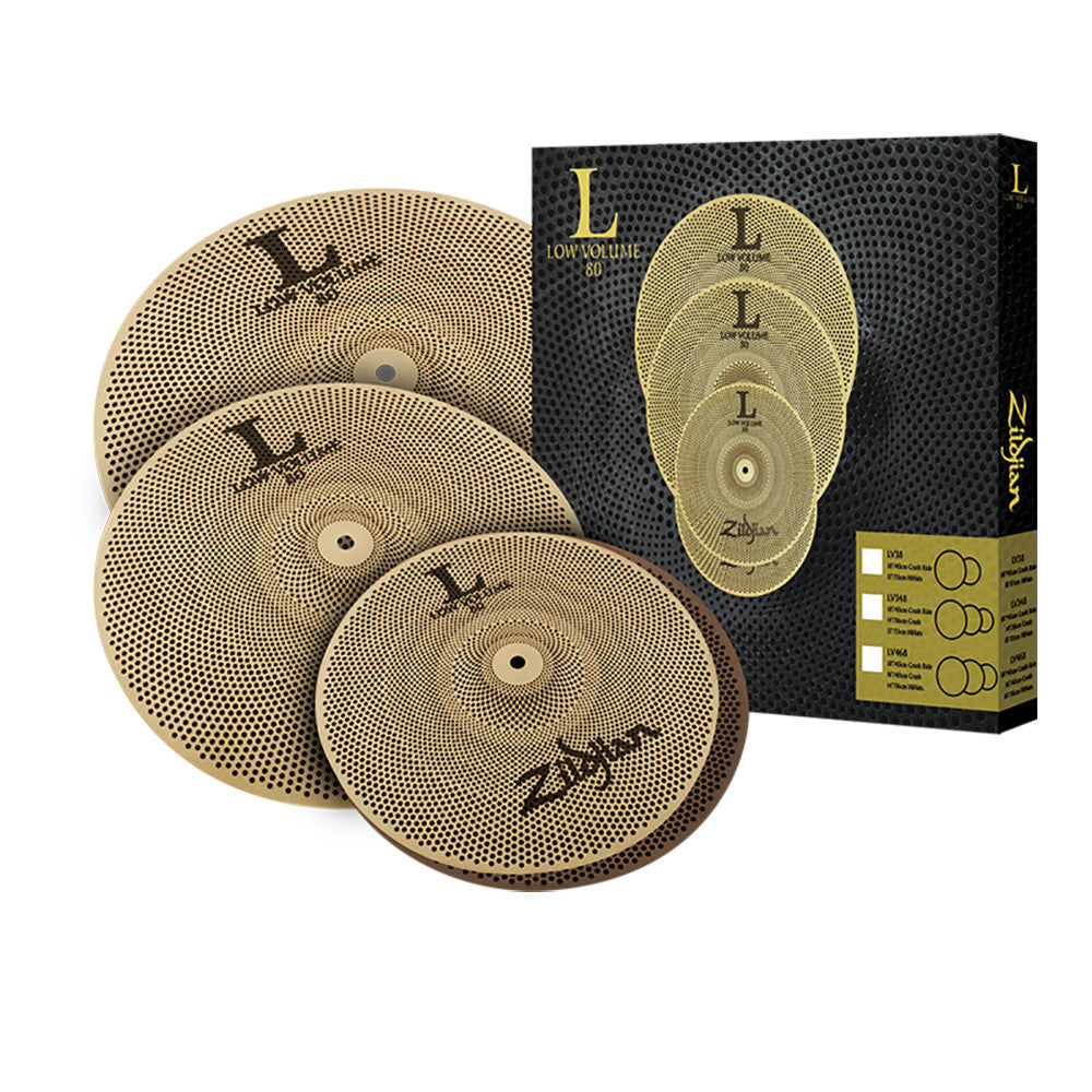 "Zildjian LV468 L80 Low Volume Box Set 14"" Hats 16"" Crash 18"" Ride"