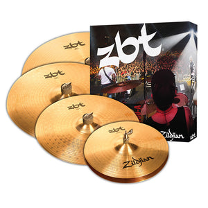 "Zildjian ZBT 5 Box Set - 14"" Hi-Hats - 16"" Crash - 20"" Ride With Free 18"" Crash"