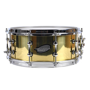"Ahead 6x14"" Polished 3MM Cast Bell Brass Snare With Chrome Trick Throw"