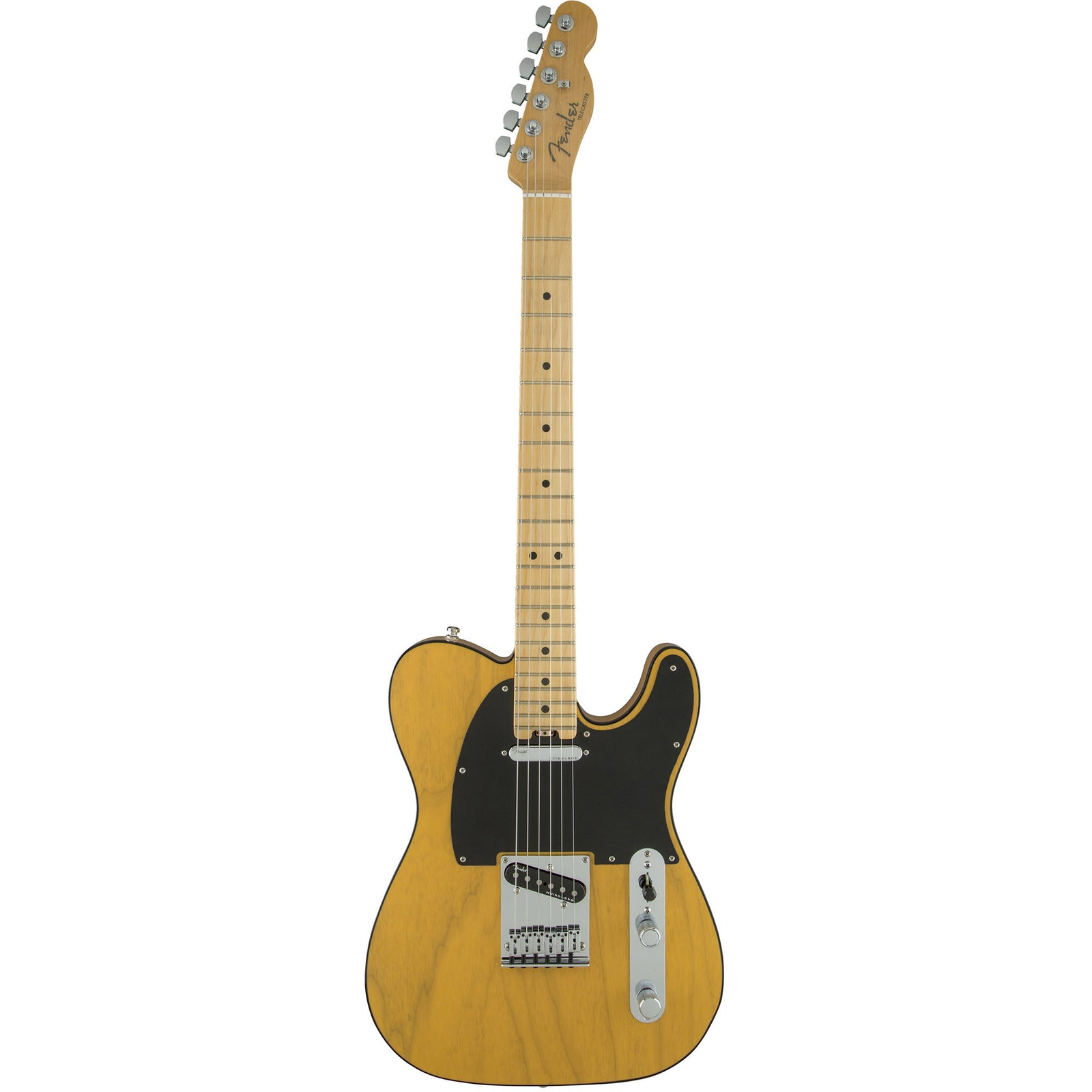 Fender American Elite Telecaster, Maple Fingerboard, Butterscotch Blonde Ash