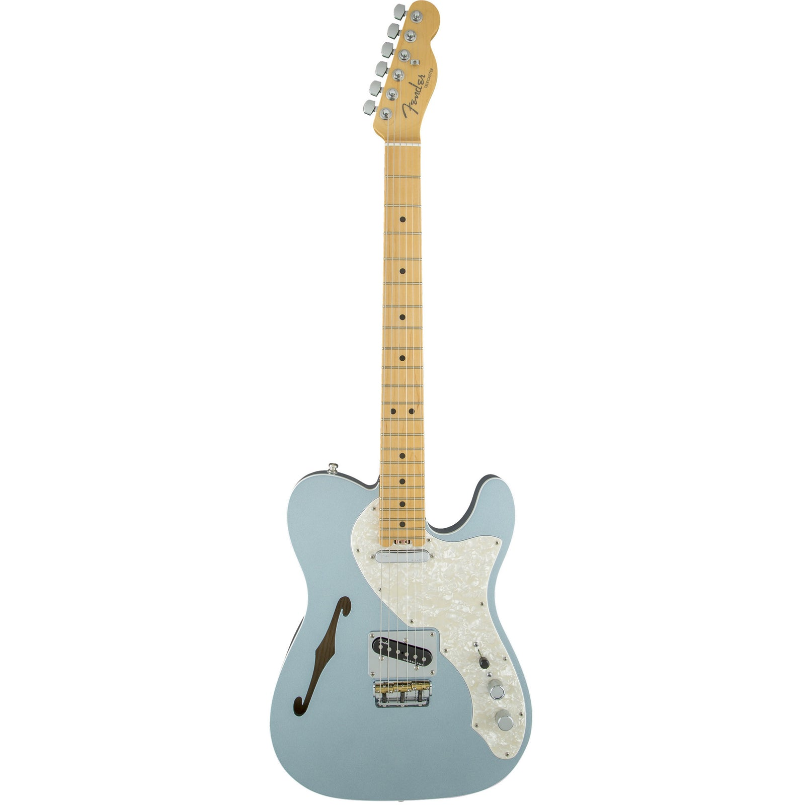 Fender American Elite Telecaster Thinline - Maple Fingerboard - Mystic Ice Blue