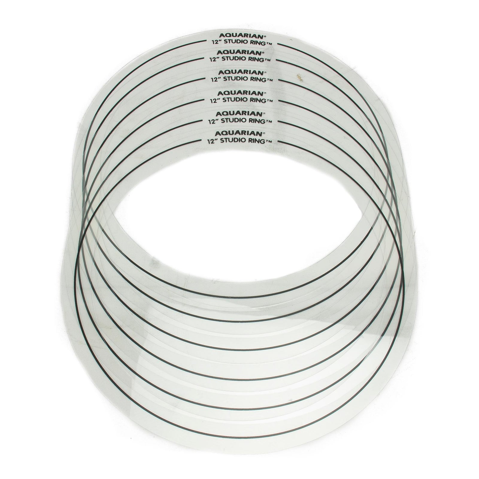 "Aquarian Studio Rings Set #8 - 12"" - Pack Of 6"