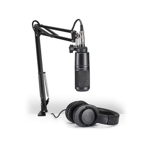 Audio Technica Streaming/Podcasting Pack With AT2020, ATH-M20X, Mount And Boom Arm