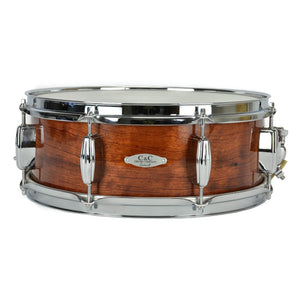 "C&C 5.5x14"" Exotic Snare - Bubinga Finish - Bubinga - Poplar - Maple"