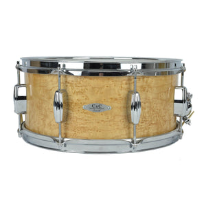 "C&C 6.5x14"" Exotic Snare - Birdseye Maple Finish - Maple/Poplar/Ribbo"