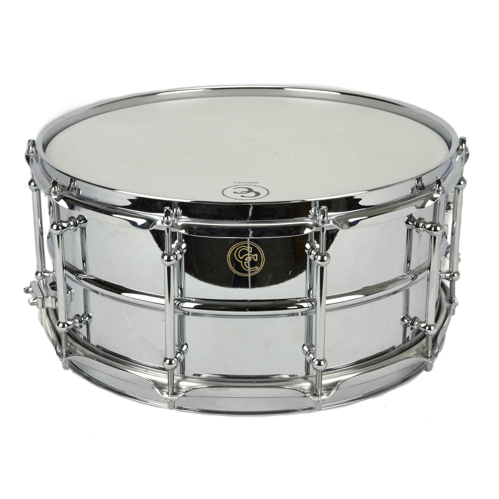 "C&C 6.5x14"" Chrome Over Brass Snare - Engraved"