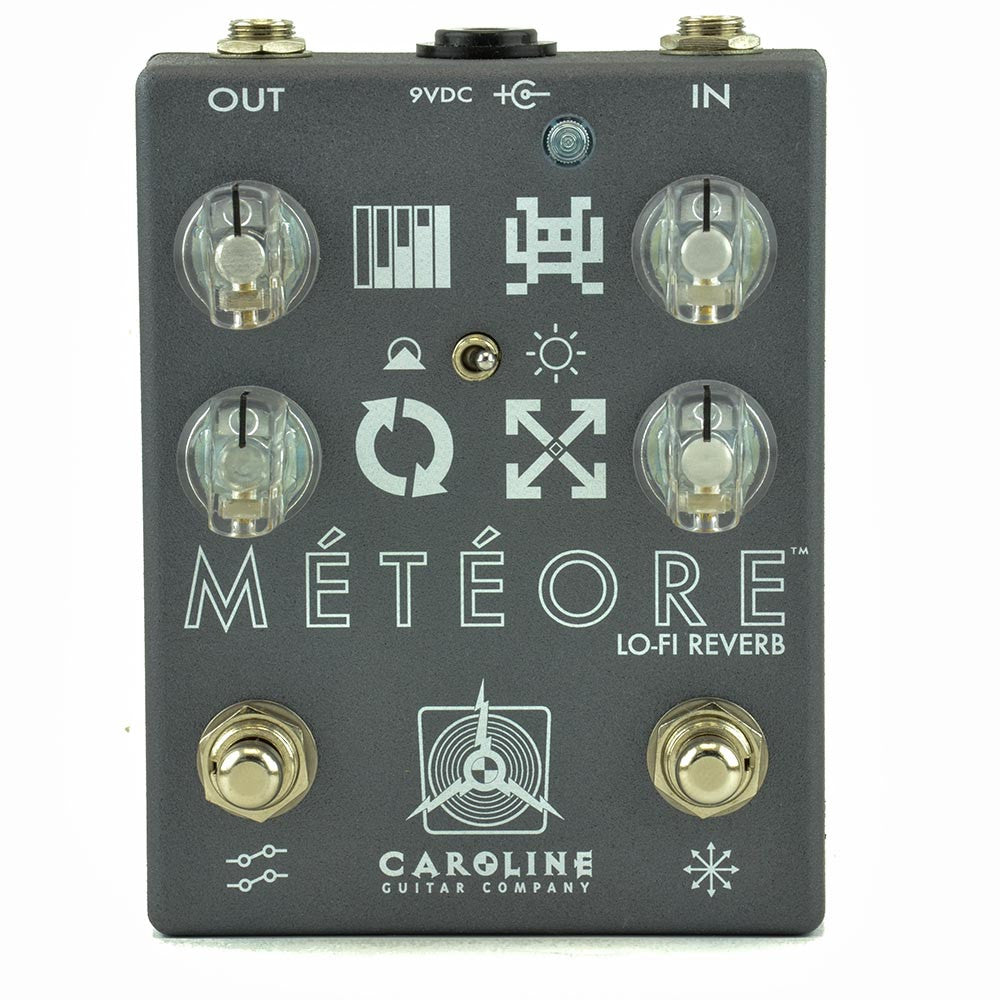 Caroline Custom Meteore Lo-Fi Reverb - Silver Crackle With Clear Knobs