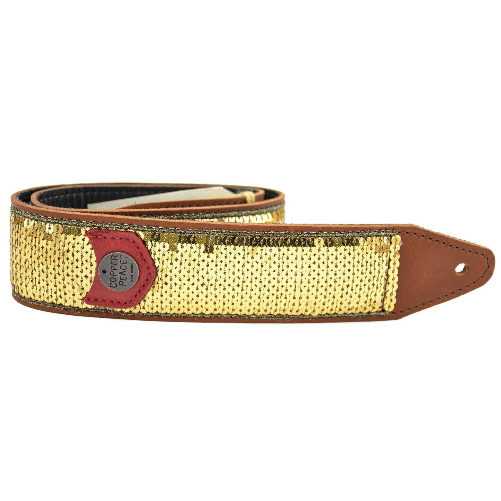 Copperpeace Glovely Gold Sequined Guitar Strap