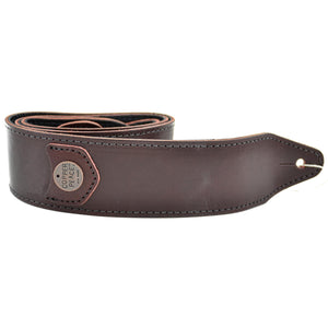 Copperpeace Marin Burgundy Leather Guitar Strap