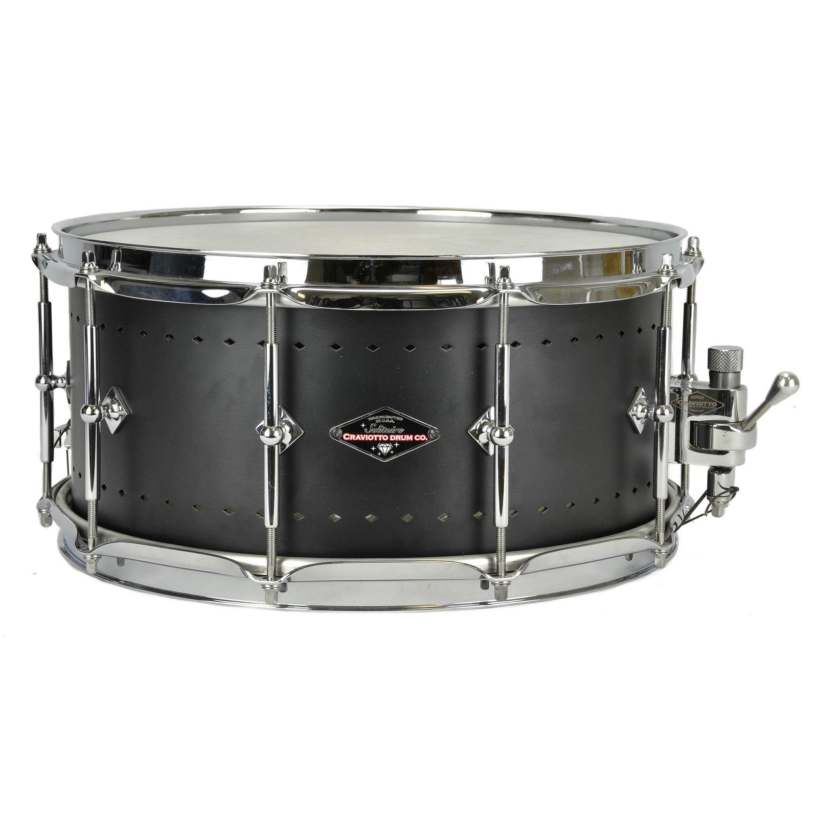 "Craviotto 6.5x14"" Solitaire Snare - Matte Black"
