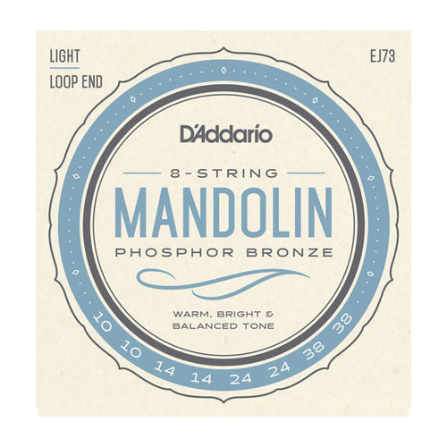 Daddario 10-38 Light Mandolin Phosphor Bronze Set