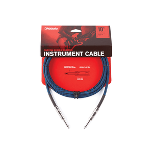 Daddario 20 Foot Braided Instrument Cable, Blue