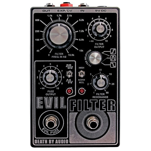 Death By Audio Evil Filter - Fuzz Filter Pedal