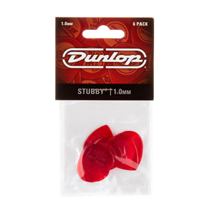 Dunlop 1.0 Red Stubby Jazz Picks 6 Pack