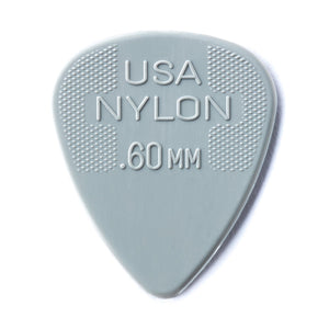 Dunlop .60 Gray Nylon Max Grip Standard Picks 12 Pack